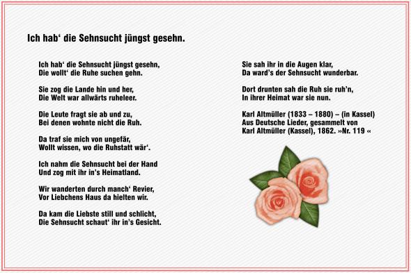 Ich hab' die Sehnsucht jüngst gesehn – Karl Altmüller