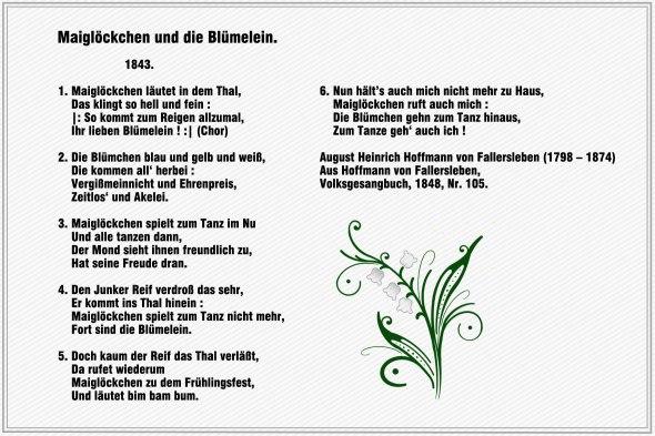 Maigloeckchen und die Bluemelein – Hoffmann von Fallersleben