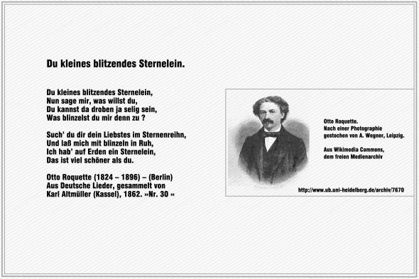 Du kleines blitzendes Sternelein – Otto Roquette