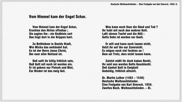Vom Himmel kam der Engel Schar – Dr. Martin Luther