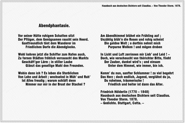 Abendphantasie – Friedrich Hölderlin